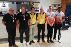 Championnat Fédéral Doublette Honneur, Podium Hommes